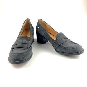 Nine West Gray Suede Penny Loafer Pump Size 10M